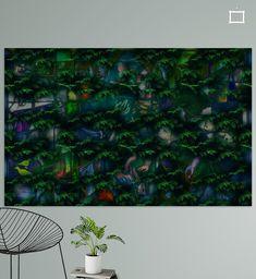 conifeer met beeld verhaal in kleur Canvas, Prints, Tela, Canvases