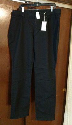 fdf77d116f853 NWT ANN TAYLOR CURVY FIT SLIM LEGS Black Print Denim Pants Size 18T  fashion   clothing  shoes  accessories  womensclothing  pants (ebay link)
