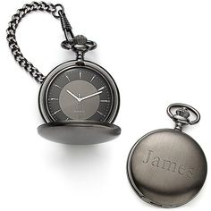 Satin Gunmetal Pocket Watch, our gifts to the groomsmen. Pretty classy! And if you time it right, not too pricey :)