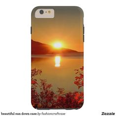 beautiful sun down case tough iPhone 6 plus case