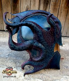 Leather HELMET KRAKEN Medusa Armor Cthulhu Costume Fantasy Larp & Cosplay by PropCornShop on Etsy https://www.etsy.com/au/listing/247523801/leather-helmet-kraken-medusa-armor