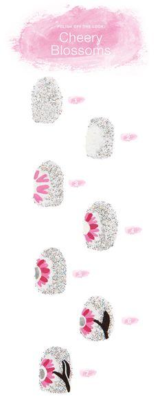 Vera Bradley 'Cherry blossoms' nails