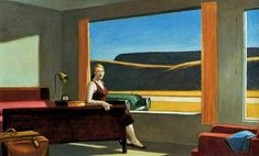 Western Hotel by Edward Hopper.   The light in this painting is just amazing!