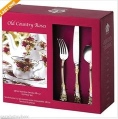 Royal Albert Old Country Roses 65- Piece Flatware Set NEW IN BOX