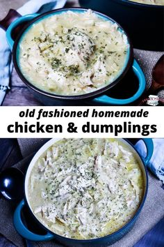Old Fashioned Homemade Chicken & Dumplings is the ultimate comfort food! Old Fashioned Homemade Chicken & Dumplings is the ultimate comfort food! Old Fashioned Chicken And Dumplings Recipe, Homemade Chicken And Dumplings, Chicken Dumplings, Chicken Flavors, Chicken Recipes, Primal Blueprint Recipes, Low Sodium Chicken Broth, Dumpling Recipe, Food Stamps