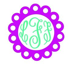 New to FrannysShop1 on Etsy: Doily Boarder Monogram Decal (6.00 USD)
