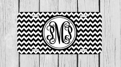 Personalized Monogrammed Chevron Vine Black by TopCraftCase