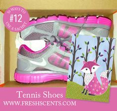 Stinky tennis shoes? Stash a scented sachet in your shoe box. Purchase Foxy Sachet at FreshScents.com