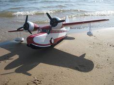 Scratch-built foam and paper RC airplane: Grumman Goose