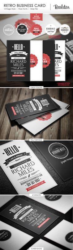Retro Invitation & Business Card by Realstar, via Behance