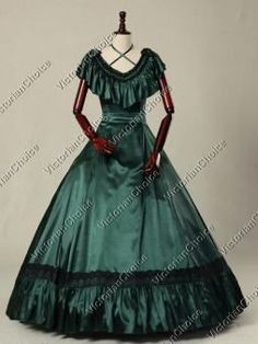 Victorian Edwardian Princess Prom Bridesmaid Dress Vintage Ball Gown Theatrical Clothing