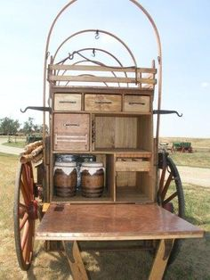 Chuckbox interior - custom built by Hansen Wheel & Wagon Shop