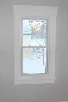 DIY Craftsman Style Window Trim   Home Coming for tealandlime.com