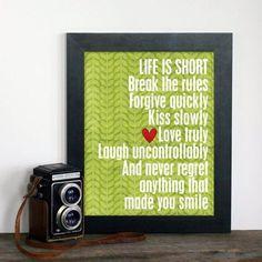 La vida es corta // Life is short