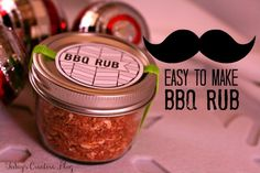 BBQ Rub Recipe- Gifts for Men - Today's Creative Blog