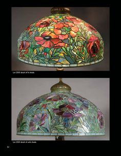 Treasures of Louis C. Tiffany from the Garden Museum, Part 2 by Michaan's Auctions - issuu Tiffany Art, Tiffany Glass, Leaded Glass, Beveled Glass, Stained Glass Lamp Shades, Louis Comfort Tiffany, Antique Lamps, Glass Ceramic, Glass Design