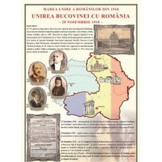 Unirea Bucovinei cu Romania la1918 1 Decembrie, December, Baseball Cards, Comics, School, Handmade, Geography, Hand Made, Cartoons