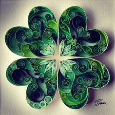 Quilled Paper Art: May Good Luck Be With You por SenaRuna en Etsy
