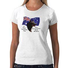 Australian Red Kelpie with Flag Tshirts