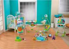 Fisher Price Precious Planet Nursery Complete Set