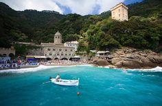 San Fruttuoso di Camogli: the abbey and the beach