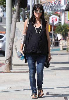Selma Blair maternity style.