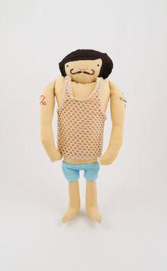 Muscle Man - Handmade Toy