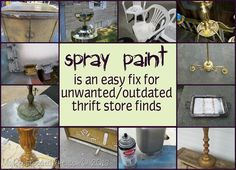 My Repurposed Life™: Spray Paint Project Bonanza !! Spray Paint is an easy fix for makeovers! Tons of projects & Tutorials !!