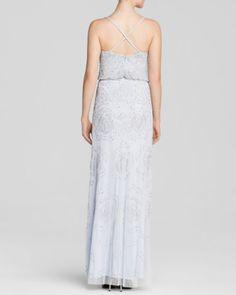 Adrianna Papell Sleeveless Rose Beaded Blouson Gown - Bloomingdale's Exclusive | Bloomingdales's