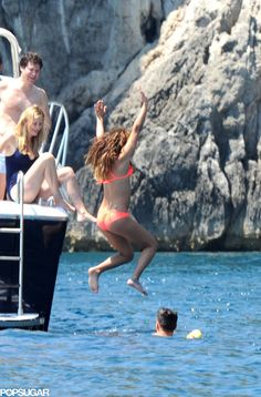 Lea Michele is having a ball in Italy!