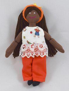 African American Girl Doll  Kids Handmade Toy by JoellesDolls