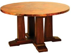 Best Hand Hammered Recycled Copper Furniture Images On Pinterest - Hammered copper round dining table