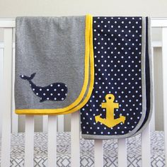 Stretchy and cozy Knit Receiving Blankets, great for baby boys. Personalize some for your own baby or gift to some moms you know!