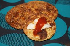Baked Eggplant Cutlets | Serving Size: 2 eggplant cutlets  Nutritional Info: 48.7 calories, .5 g of fat, 9 g carbohydrates, 2 g dietary fiber, 2.6 g of protein