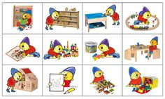 Kleuterjuf in een kleuterklas: Planbordkaarten van Pompom | Methode SCHATKIST