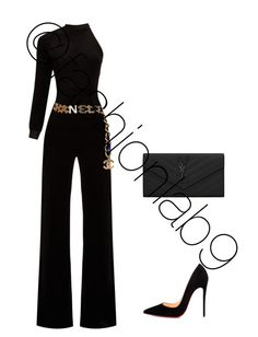 """""""Untitled #2726"""" by fashionlab9 on Polyvore featuring Vetements, Christian Louboutin, Chanel and Yves Saint Laurent"""
