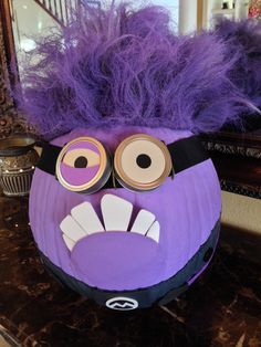 Evil Minion No Carve Pumpkin
