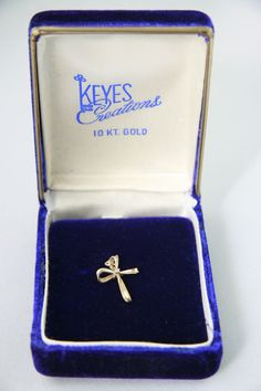 10 Kt Yellow Gold Cross with Diamond Chip Looped Ends Pendant Only SOLD
