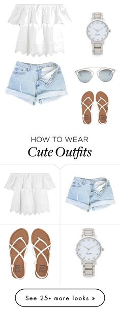 """""""Cute summer outfit."""" by sheadan-barker on Polyvore featuring Madewell, Kate Spade, Christian Dior and Billabong"""