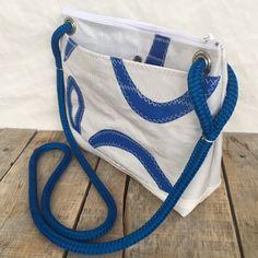 Corsica Crossbody Purse, Sail cloth bag, recycled sailbag, one of a kind