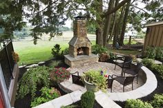 Lovable Outdoor Patio Fireplace Ideas Simple Outdoor Fireplace Designs Outside Fireplace Ideas Outdoor - Some of the most effective technologies and also l Modern Backyard Design, Design Patio, Backyard Patio Designs, Backyard Landscaping, Patio Ideas, Backyard Ideas, Firepit Ideas, Landscaping Ideas, Garden Design