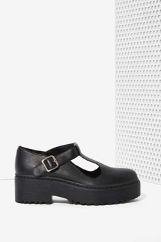 Jeffrey Campbell Teleri Leather Mary Janes | Shop What's New at Nasty Gal