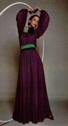 1973 - Yves Saint Laurent gown