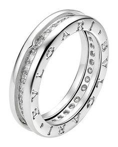 bvlgari bulgari inspired 14ct white gold and pavdiamond ring