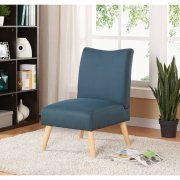 Mainstays Solid Armless Slipper Chair, Multiple Colors Image 1 of 5 Classic Living Room, Living Room Grey, Living Room Sets, Living Room Chairs, Modern Living, Armless Accent Chair, Accent Chairs, Black Dining Room Furniture, Leather Futon