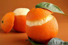 Recette d'oranges givrées au Thermomix TM31 ou TM5. Faites ce dessert en mode étape par étape comme sur votre appareil ! Orange Givrée, Orange Sorbet, Orange Juice Brands, Orange Dessert, Juice Branding, Thermomix Desserts, Vegan Ice Cream, Cooking Chef, Orange Recipes
