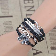 Boho Infinity Elephant Love Multilayer Weave Bracelet