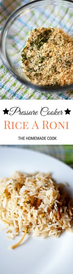 Pressure Cooker Rice A Roni. No boxes needed. Homemade Rice A Roni.
