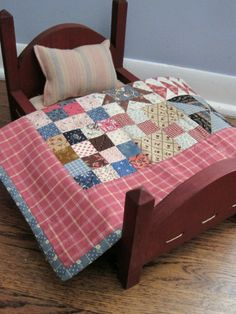 Loving Those Doll Quilts from the Past. See more of my patterns at www.countrylanequilts.com