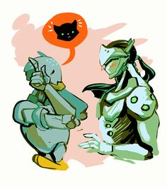 Zenyatta teases Genji Kitty